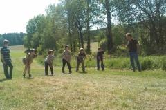 Cvičení našich nejmenších hasičů 19. května 2012